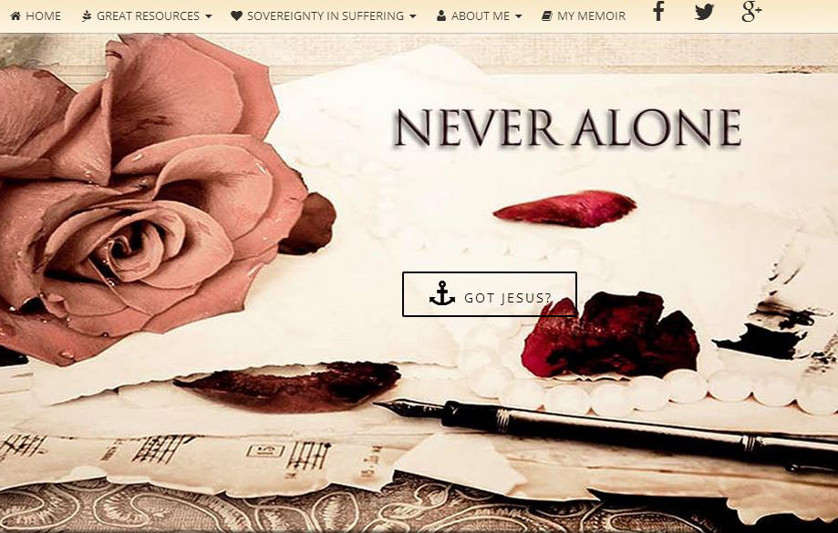 NEVER  ALONE – at the end of your rope?